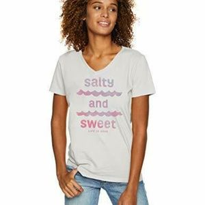 Life is Good Womens T-Shirt Salty and Sweet